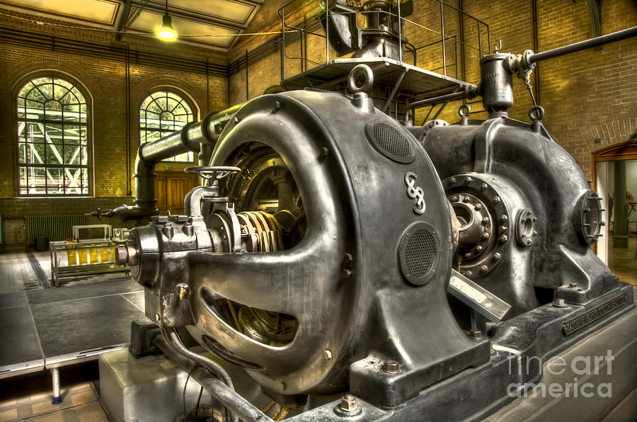 Heiko Photograph - In The Ship-lift Engine Room by Heiko Koehrer-Wagner