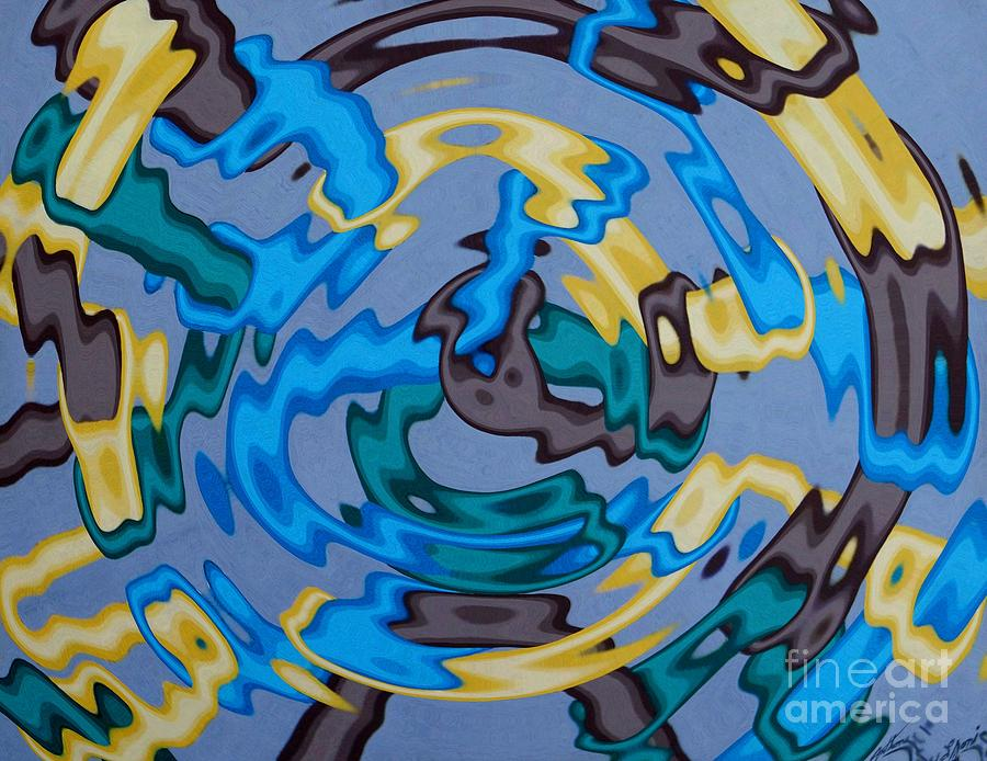 Abstract Painting - Interlock 3 by Anthony Morris