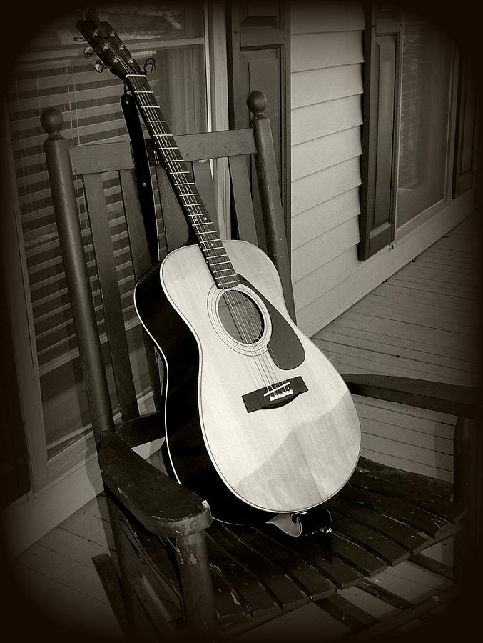 Guitar Photograph - Intermission by Kelly Nowak