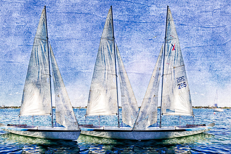 Boats Photograph - Into The Blue by Debra and Dave Vanderlaan
