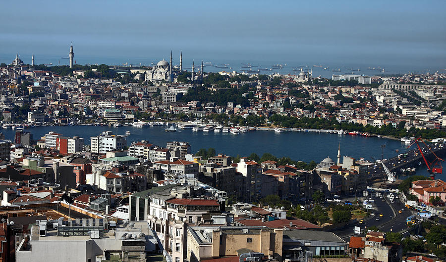 Buildings Photograph - Istanbul Overview by Sally Weigand