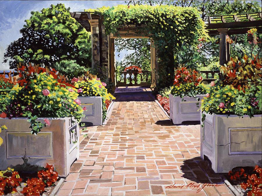 Gardenscape Painting - Italian Elegance by David Lloyd Glover