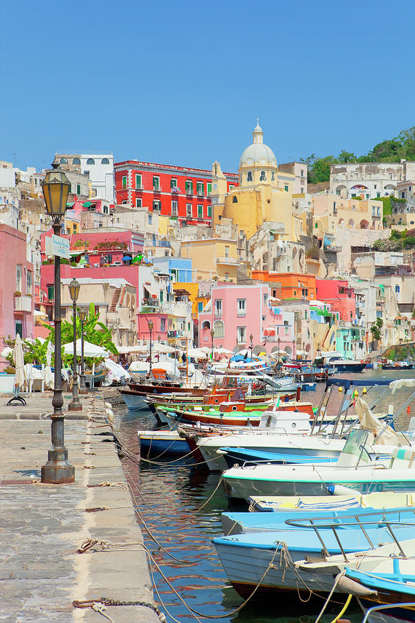Italy, Procida Island, Corricella Photograph by Frank Chmura