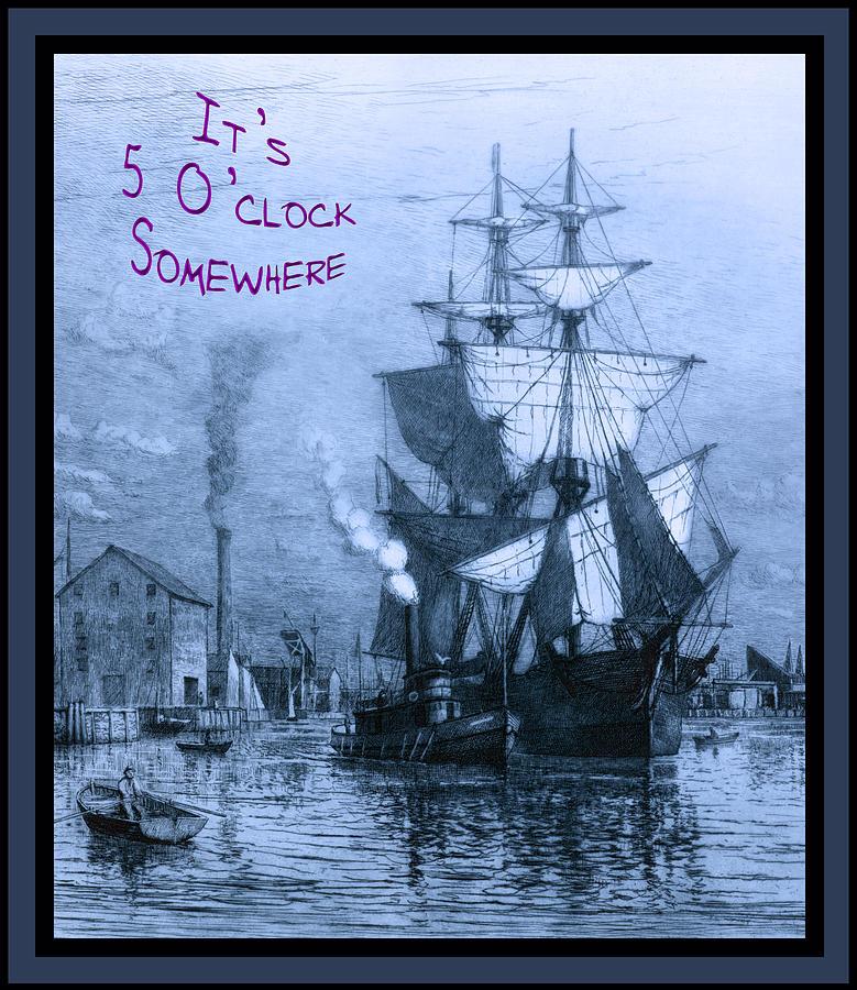 It's 5 O'clock Somewhere Photograph - Its 5 Oclock Somewhere by John Stephens