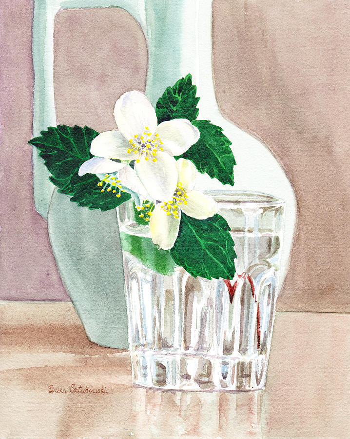 Jasmine Painting - Jasmine by Irina Sztukowski