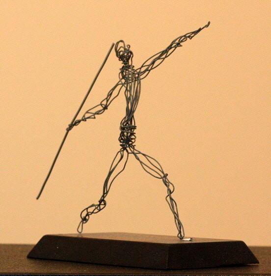 Man Sculpture - Javelin Thrower  by Mel Drucker
