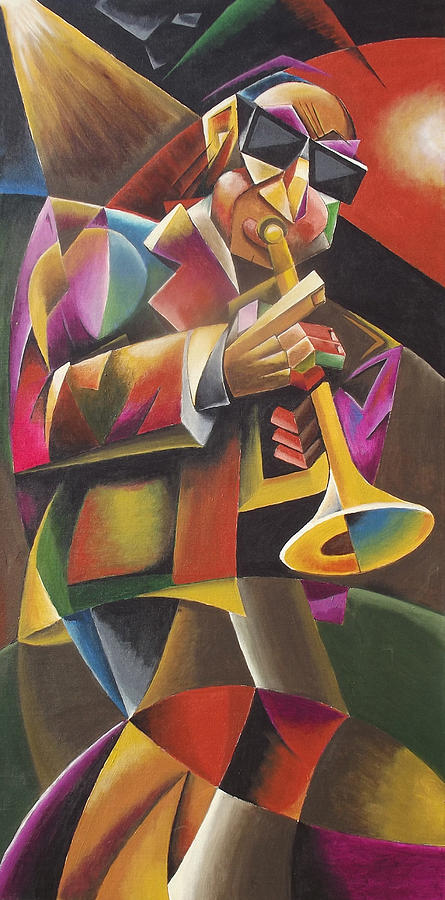 Jazz Painting - Jazz Horn by Bob Gregory
