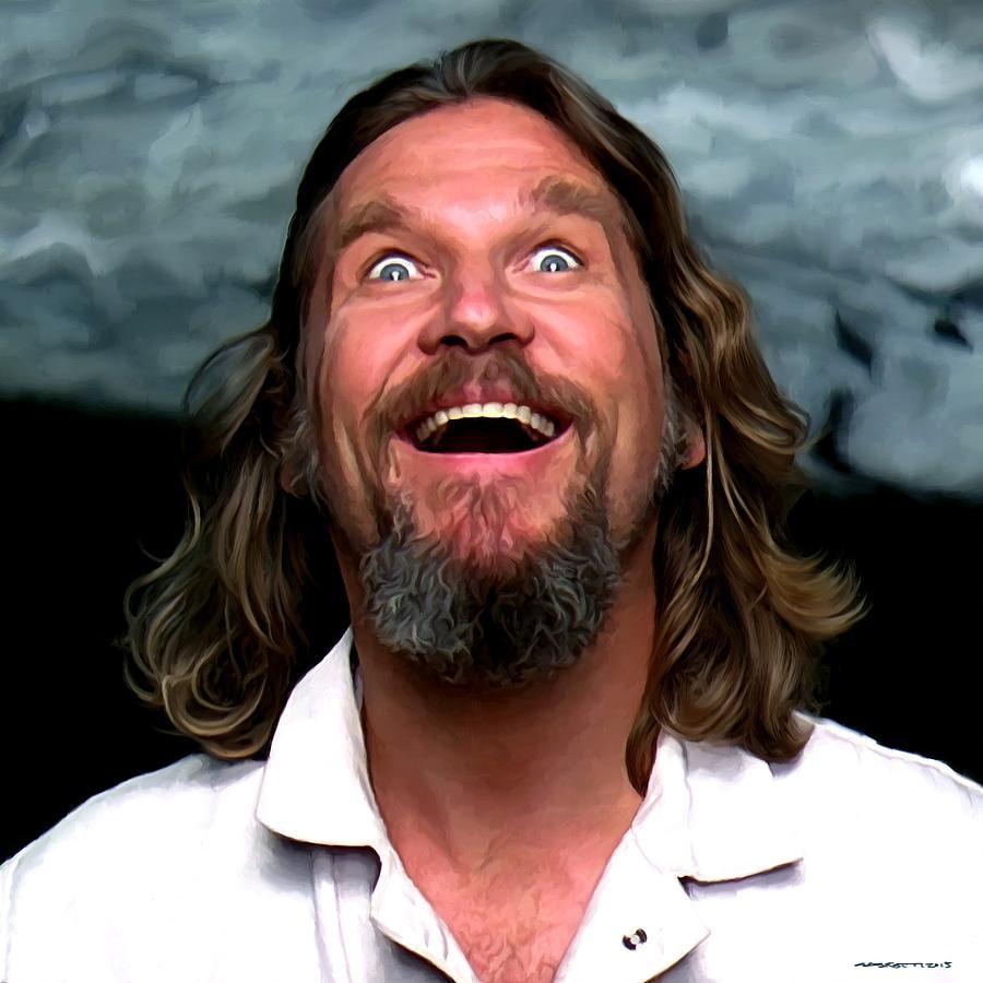 The Big Lebowski Digital Art - Jeff Bridges as The Dude by Gabriel T Toro