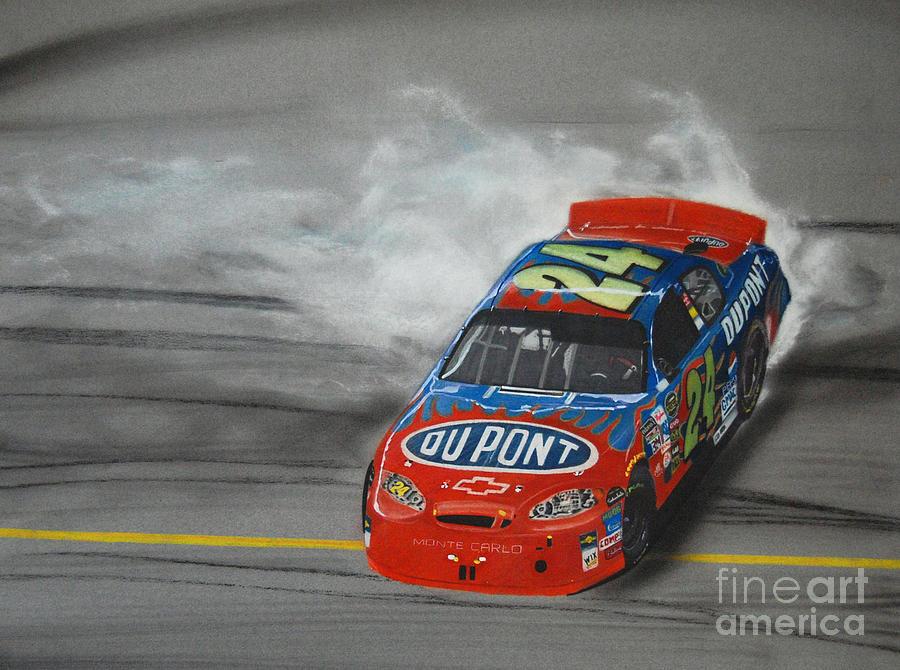 Jeff Gordon Victory Burnout Drawing