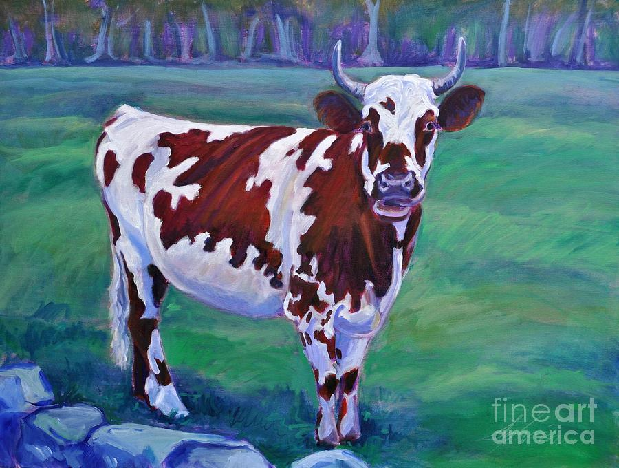 Cow Painting - Jigsaw by Sylvina Rollins