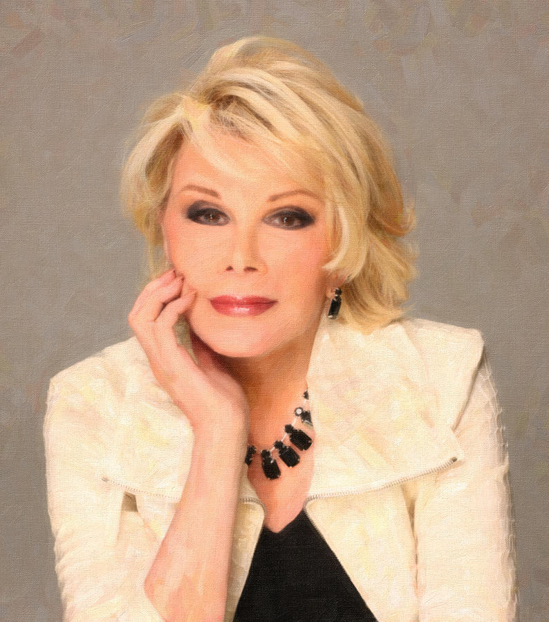 Woman Painting - Joan Rivers Portrait 3 by MotionAge Designs