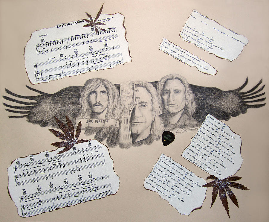 Joseph Fidler Walsh Drawing - Joe Walsh Good Life by Renee Catherine Wittmann