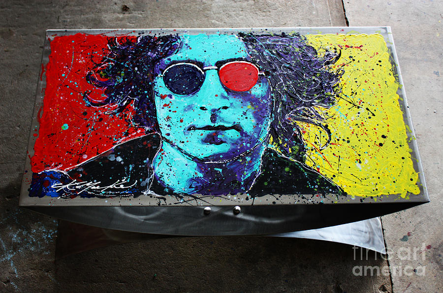 John Lennon Painting - John Lennon Coffee Table by Chris Mackie