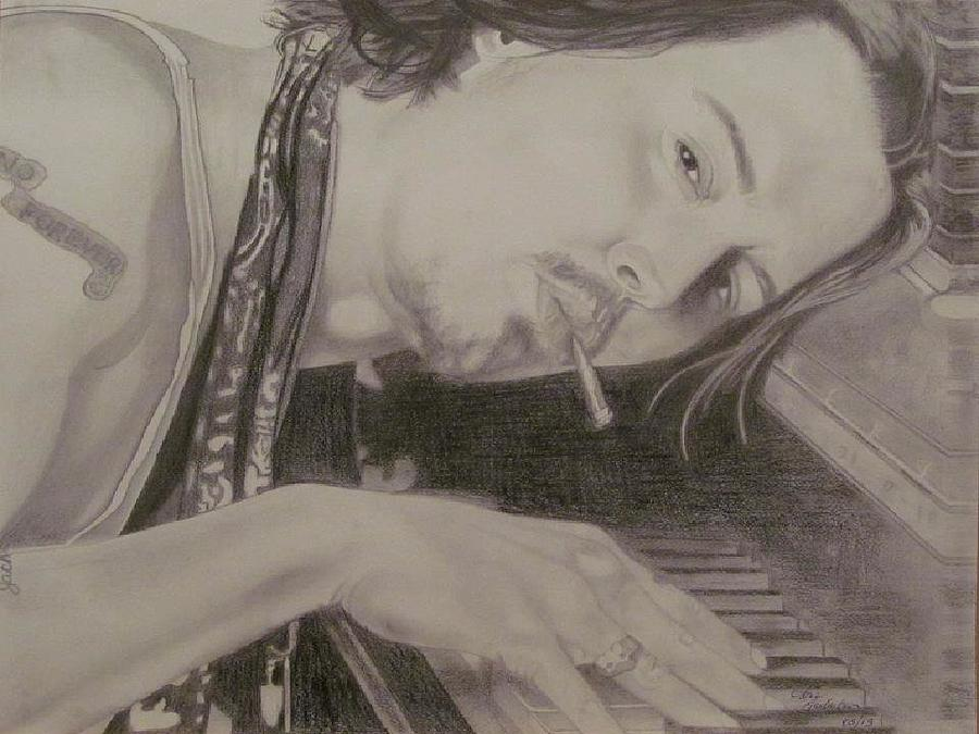 Johnny Depp Drawing - Johnny Depp by Gloria MacEachern
