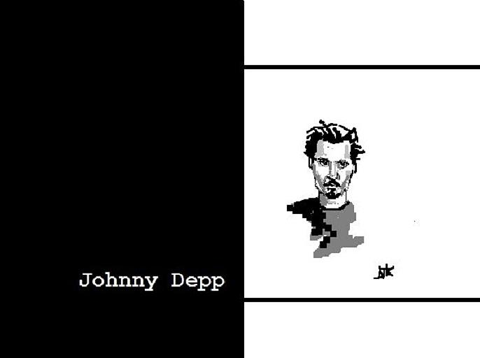 Johnny Depp Digital Art - Johnny Depp Sketch by Ann Kipp