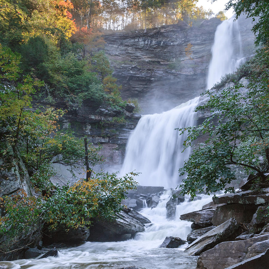 Kaaterskill Clove Photograph - Kaaterskill Falls Square by Bill Wakeley