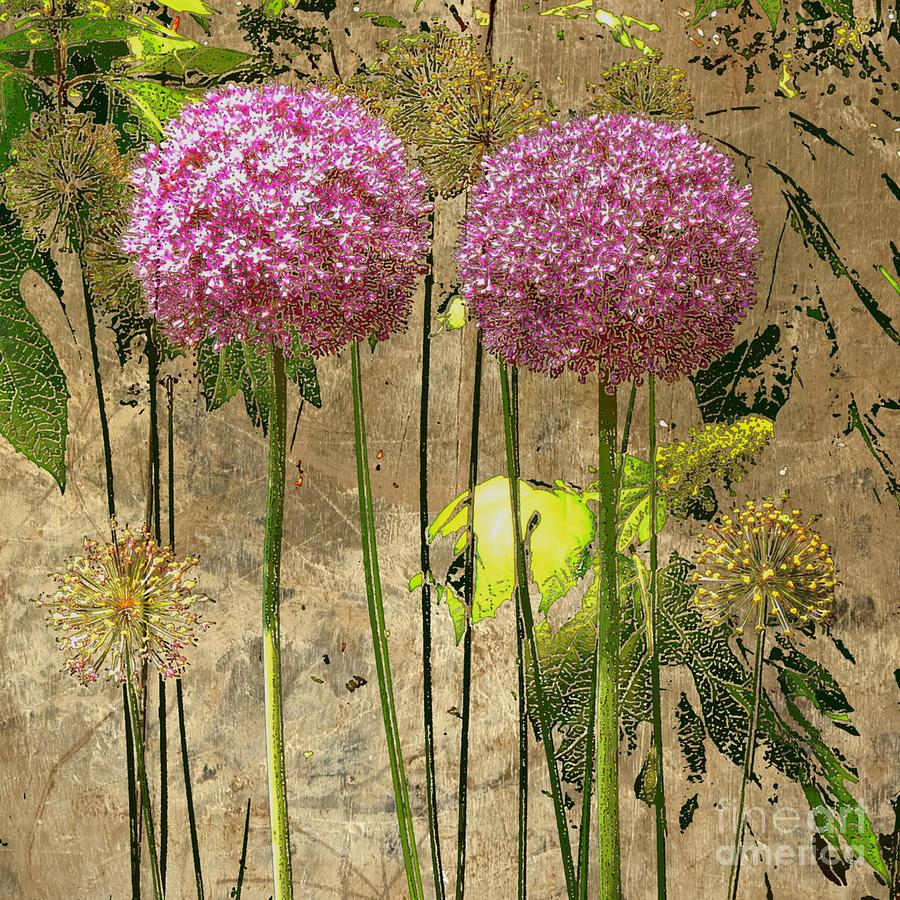 Floral Digital Art - Kamakura by Machiko Studio