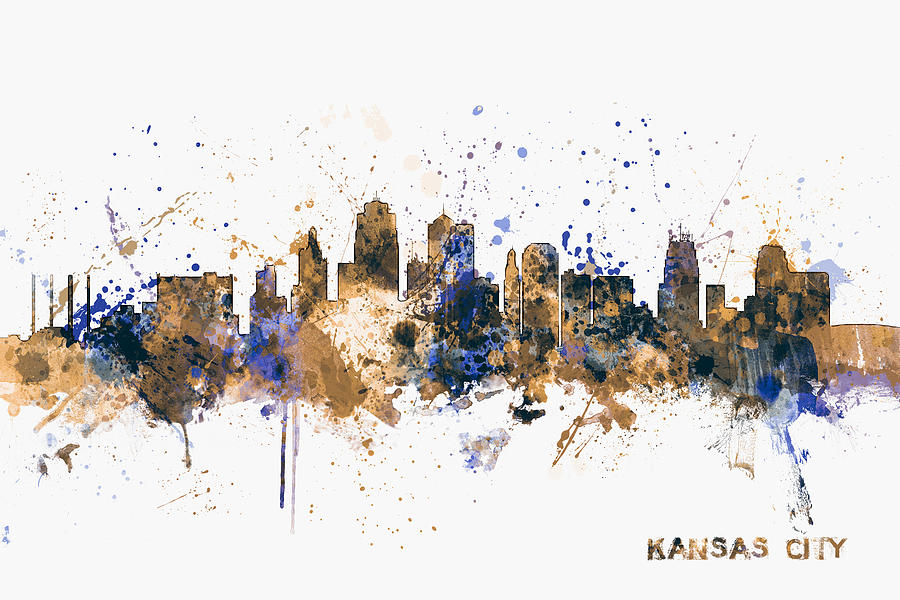 United States Digital Art - Kansas City Skyline by Michael Tompsett