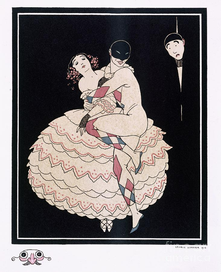Male Painting - Karsavina by Georges Barbier