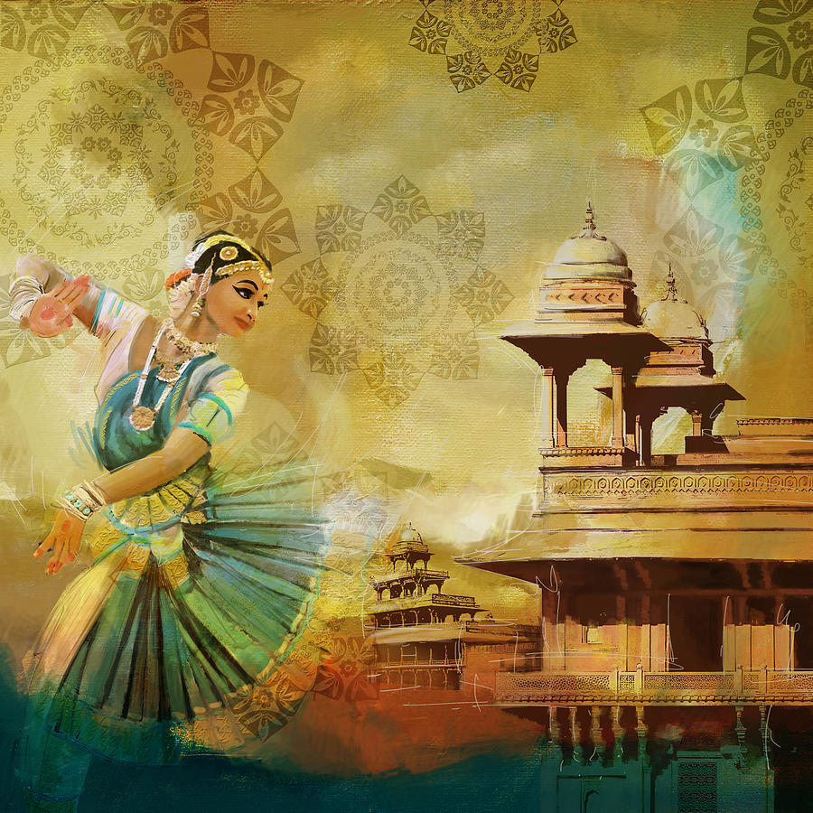 Kathak Dancer Painting by Catf