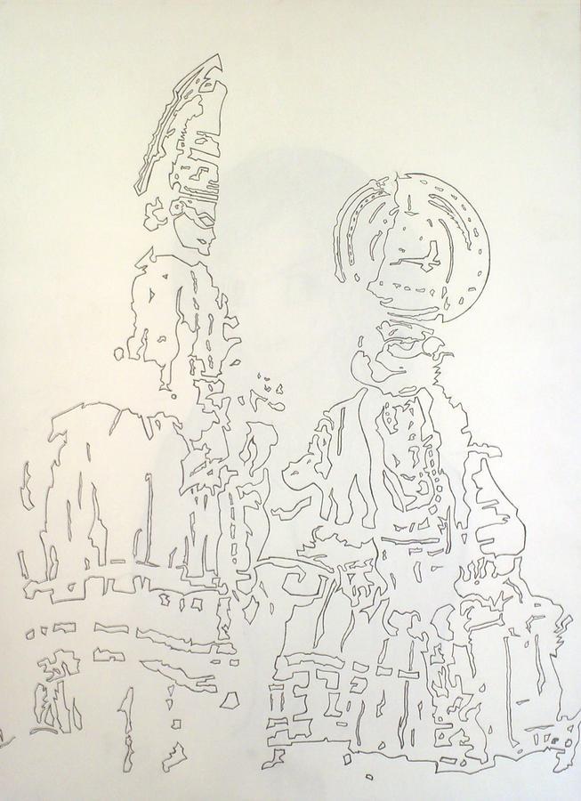 Kathakali Drawing By Ashwin Girish