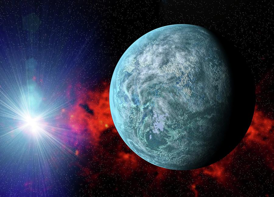 Exoplanet Photograph - Kepler-20f Exoplanet by Victor Habbick Visions/science Photo Library