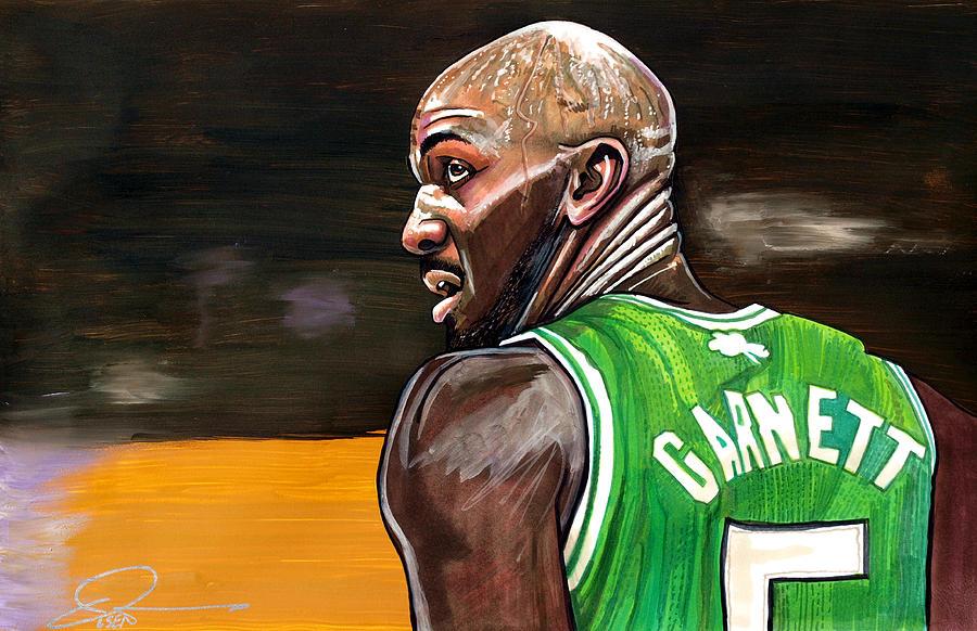 Kevin Garnett Painting - Kevin Garnett by Dave Olsen