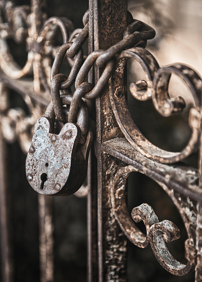 Lock Photograph - Keyless by Caitlyn  Grasso