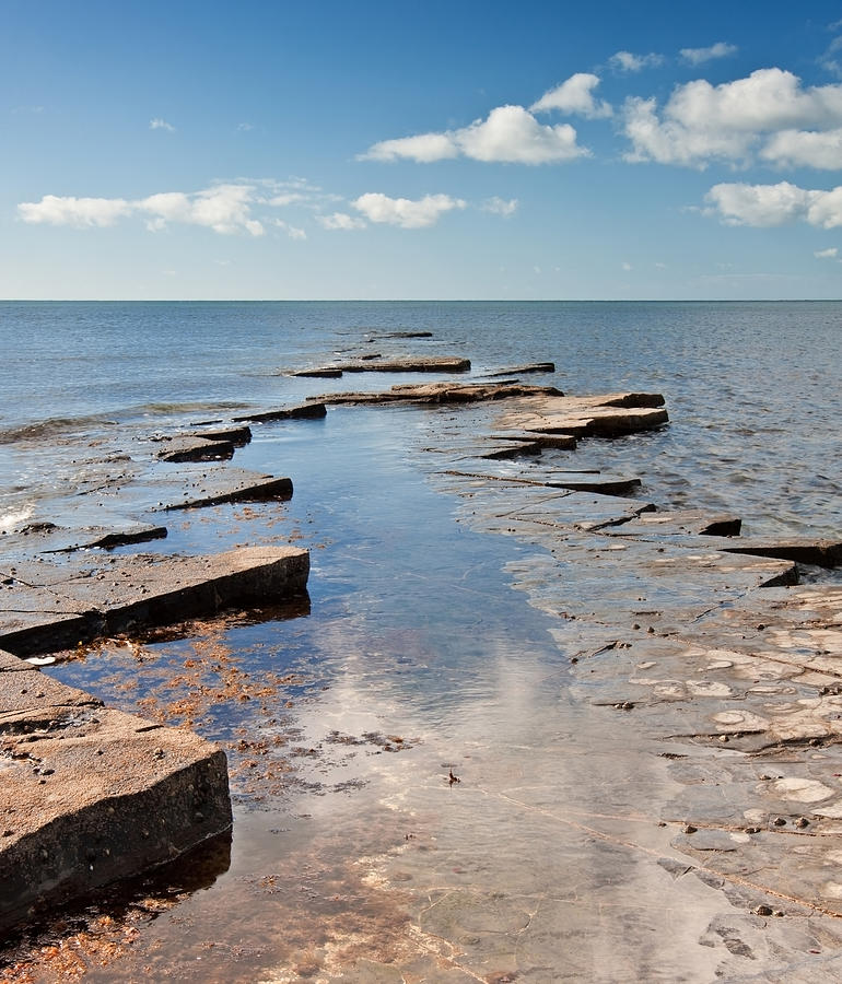 Kimmeridge Photograph - Kimmeridge Bay Seascape by Matthew Gibson