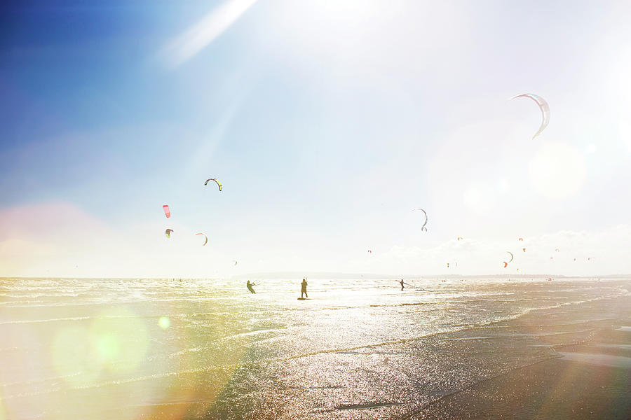 Kite Surfers Photograph by Nick David
