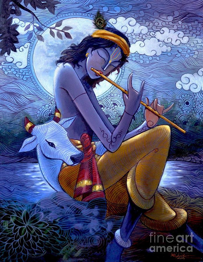 Krishna Painting - Krishna by Rajesh babu Ponnayyan