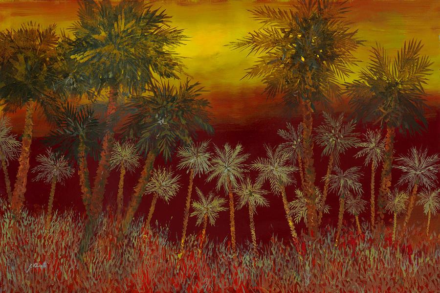 Jungle Painting - La Jungla Rossa by Guido Borelli