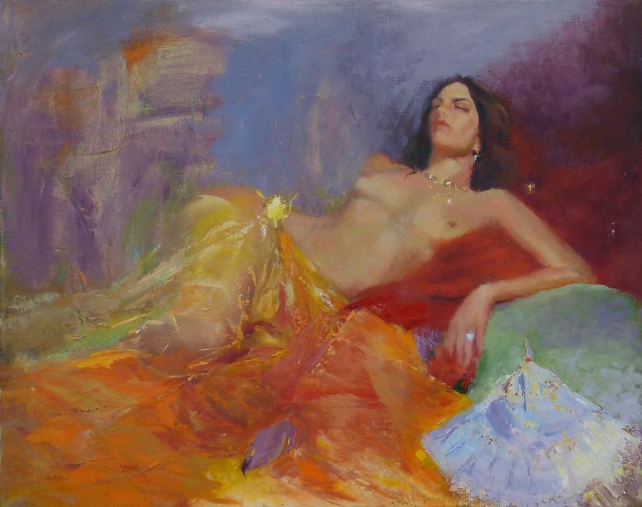 Figurative Painting - SOLD La Traviata II by Irena  Jablonski