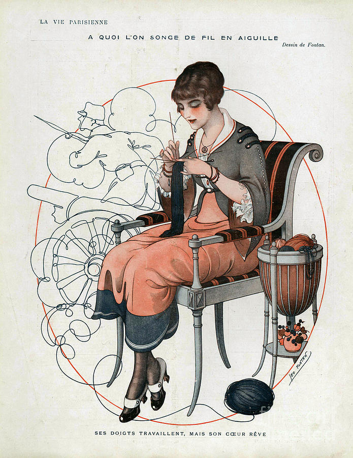 1910s Drawing - La Vie Parisienne  1916 1910s France Cc by The Advertising Archives