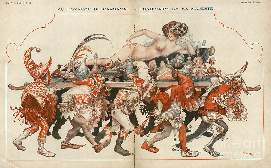French Drawing - La Vie Parisienne 1926 1920s France by The Advertising Archives