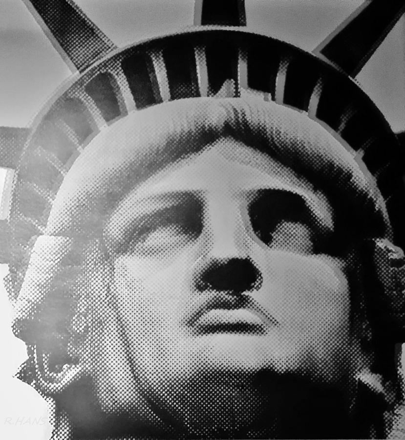 Statue Of Liberty Photograph - Lady Liberty In Black And White by Rob Hans