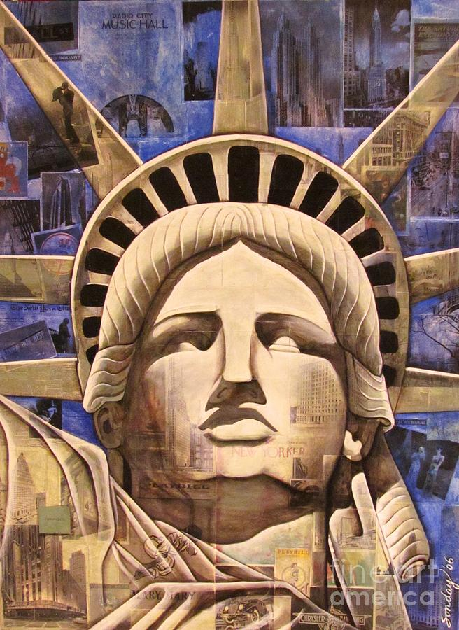 Statue Of Liberty Painting - Lady Liberty by Joseph Sonday