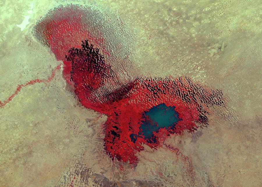 Lake Chad Photograph - Lake Chad by Nasa/science Photo Library