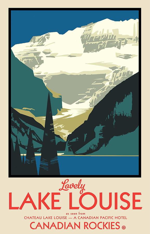 Vector Digital Art - Lake Louise by Gary Grayson