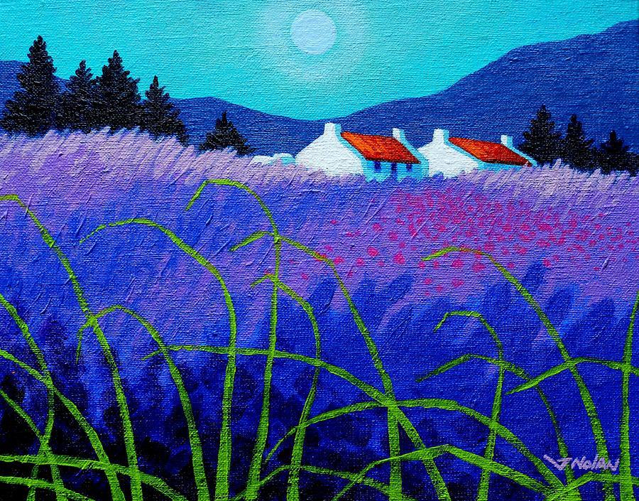 Acrylic Painting - Lavender Field by John  Nolan
