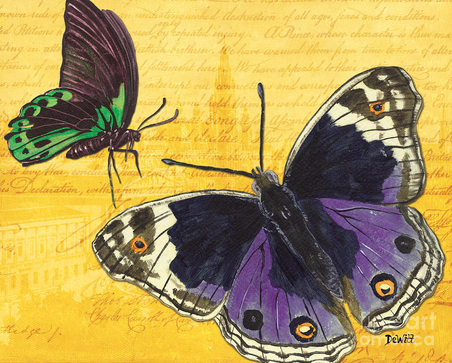 Butterfly Painting - Le Papillon 4 by Debbie DeWitt
