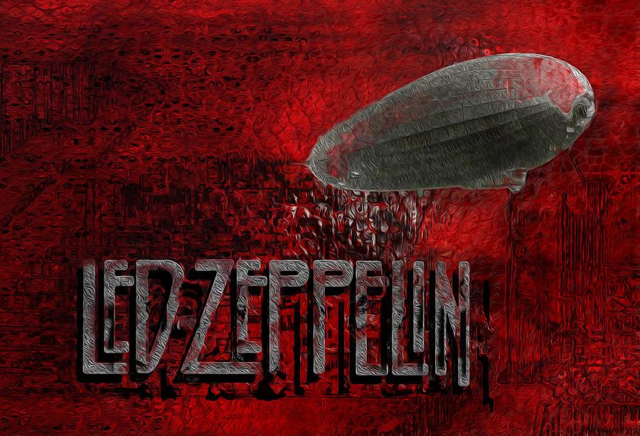 Led Zeppelin Painting - Led Zeppelin by Jack Zulli