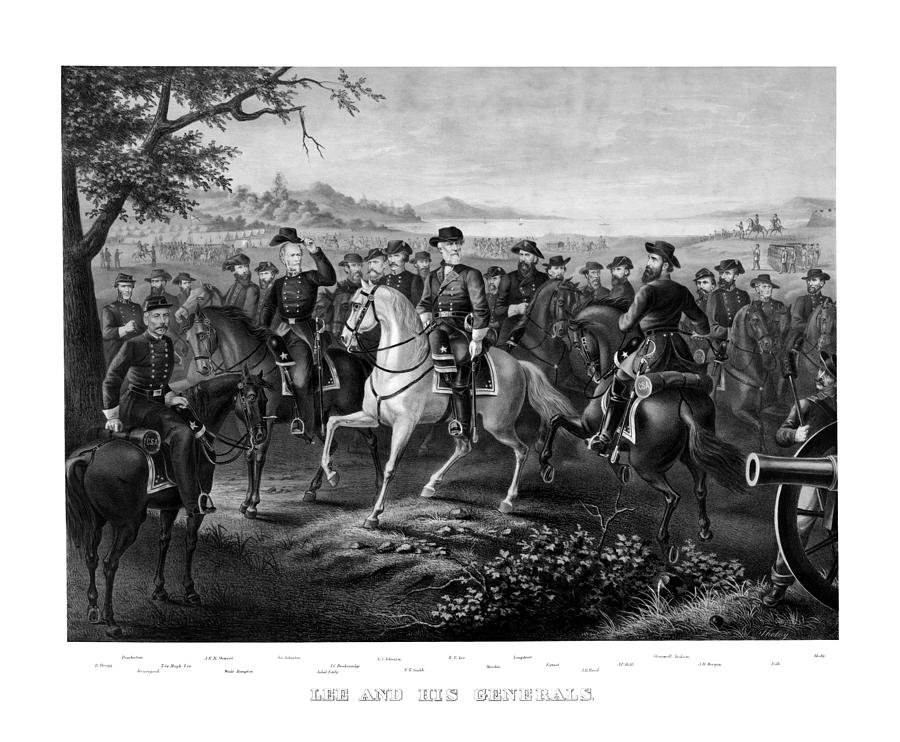Robert E Lee Painting - Lee And His Generals by War Is Hell Store