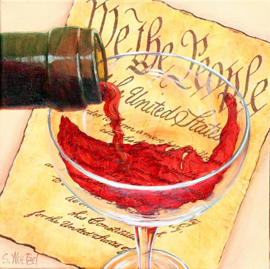 Toast Painting - Let Freedom Ring by Sandi Whetzel
