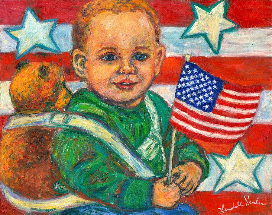 Flag Painting - Liberty by Kendall Kessler