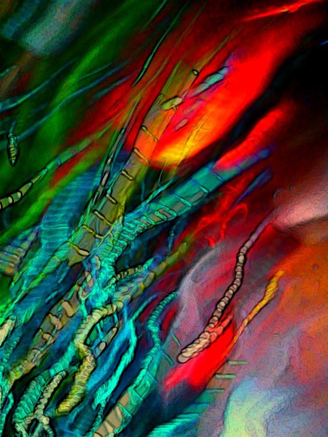 Color Digital Art - Light Strands by D Preble