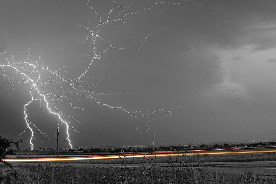 Lightning Photograph - Lightning Thunderstorm Dragon by James BO  Insogna