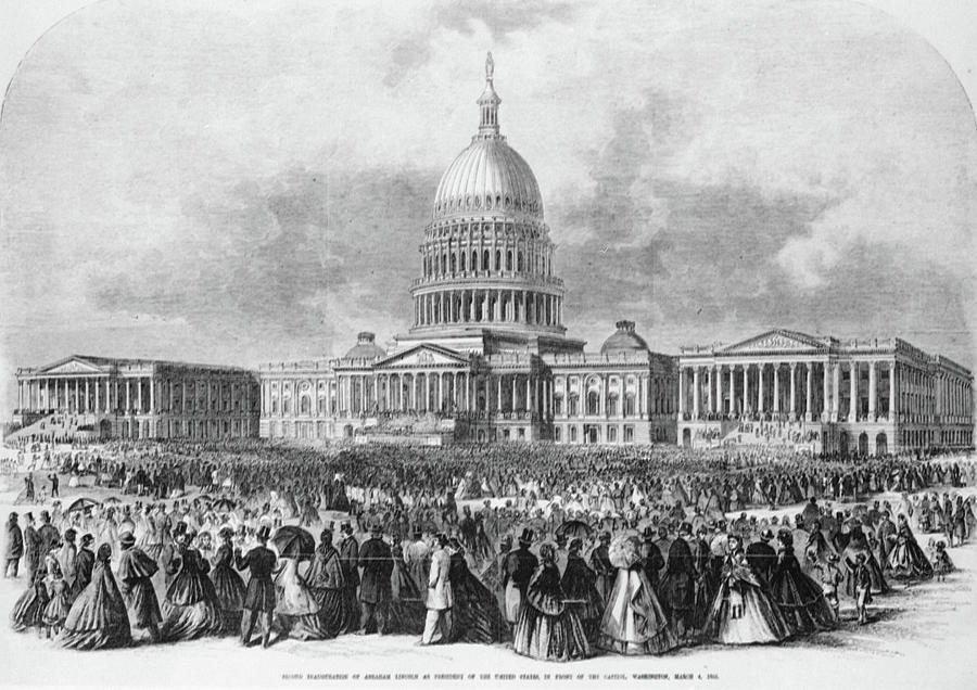 1865 Painting - Lincoln Inauguration, 1865 by Granger