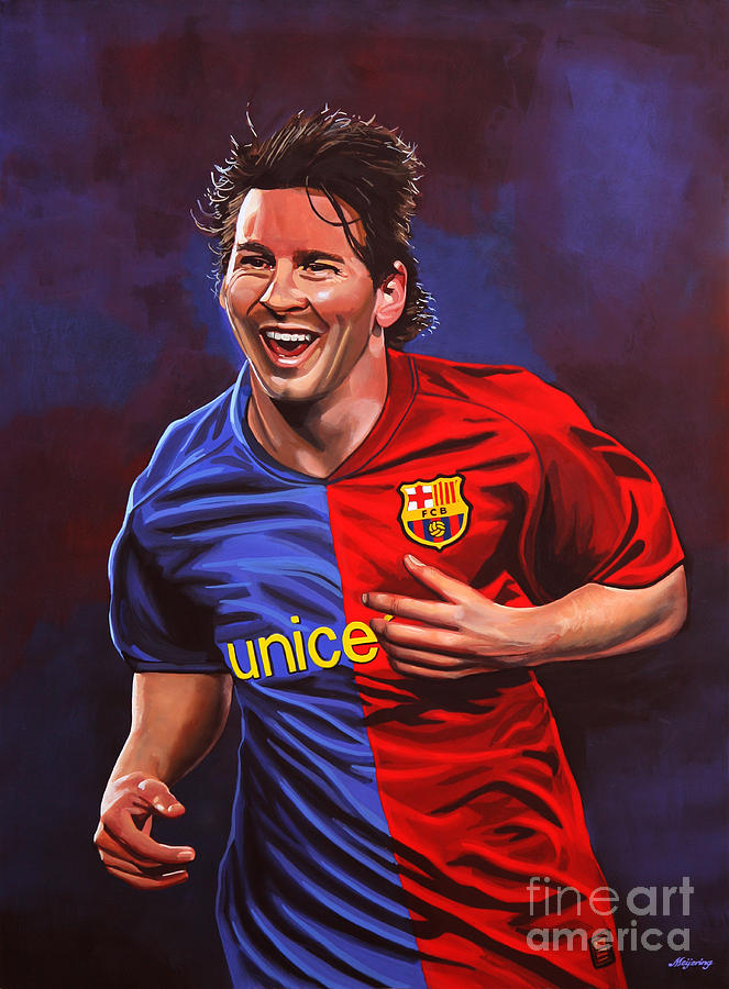 Lionel Messi Painting - Lionel Messi  by Paul Meijering