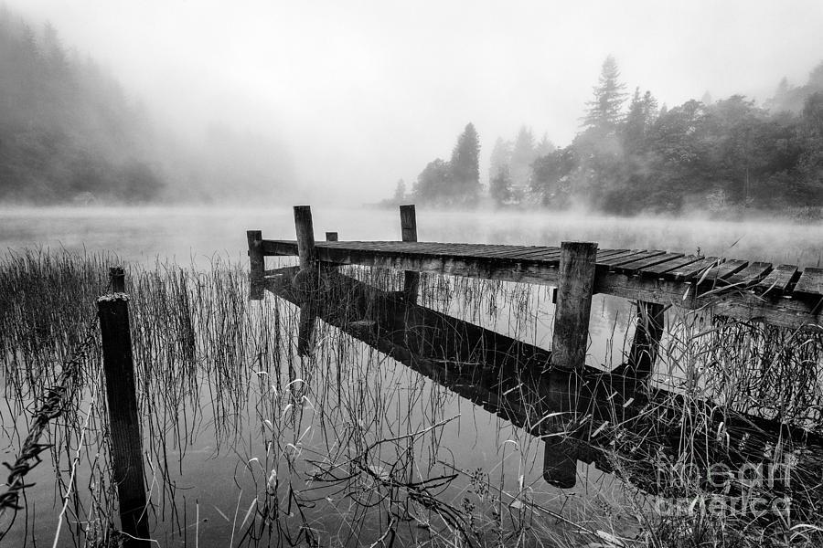 Scotland Photograph - Loch Ard Early Mist by John Farnan